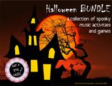 Halloween BUNDLE ~ 13 spooky music activities & games