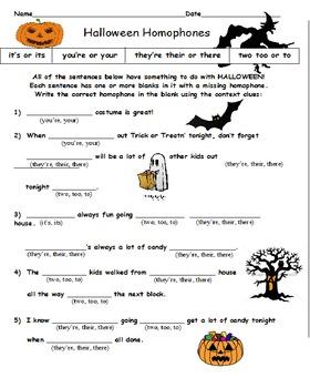 Halloween BUNDLE 4th Grade