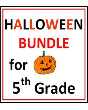 Halloween BUNDLE 5th Grade