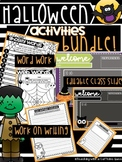 Halloween BUNDLE: Word Work, Work on Writing, &EDITABLE Class Slides with Timers