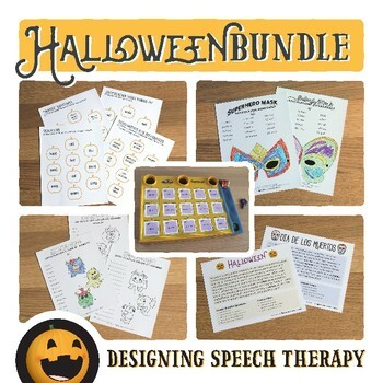 Halloween BUNDLE for Speech and Language Therapy