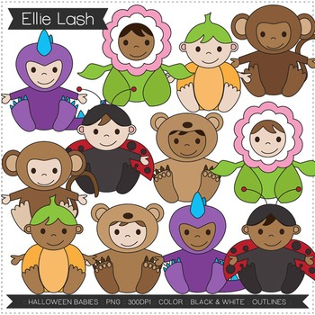 Halloween Babies Digital Clipart