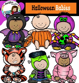 Halloween Babies -color and B&W-Free!!