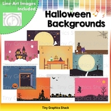 Halloween Background Clip Art (No Outlines)