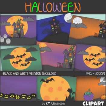 Halloween Background Scenes ClipArt