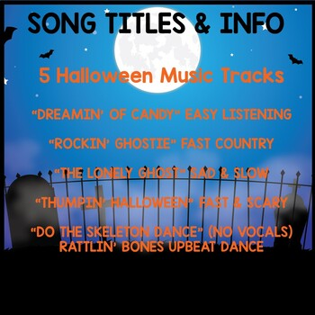 Halloween Music Background Tracks: Movement, Scarves, Freeze Dance, Music, PE
