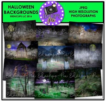 Halloween Background Photo Set