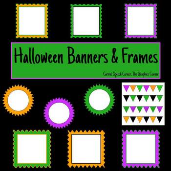 Halloween Backgrounds, Banners, & Frames