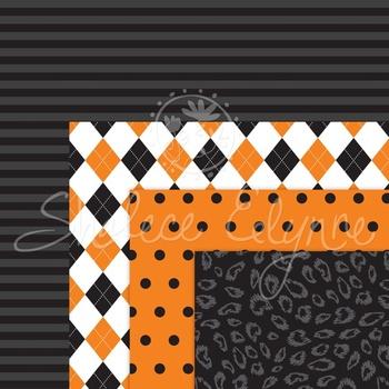 Halloween Backgrounds Digital Paper Pack