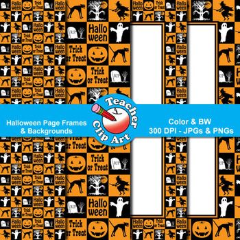 Halloween Backgrounds & Page Frames