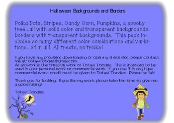 Halloween Backgrounds and Borders