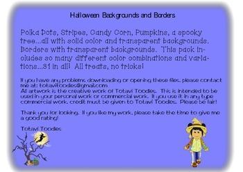 Halloween Backgrounds and Borders