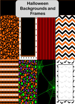 Halloween Backgrounds and Frames