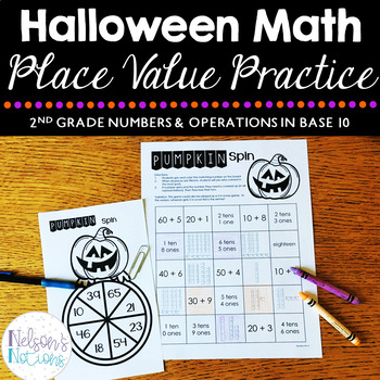 Halloween Math Centers - 2nd Grade Place Value Games