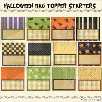 Halloween Bag Topper Starters~Halloween Printables and Crafts