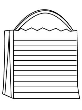 Halloween Bag Writing Booklet