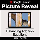 Halloween: Balancing Addition Equations - Google Forms Mat