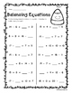 Halloween Balancing Equations Activity