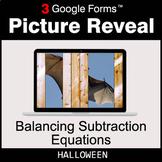 Halloween: Balancing Subtraction Equations - Google Forms