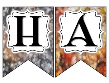 Halloween Banner Bokeh style - Classroom Banner
