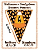 Halloween Banner / Pennant Set - Entire Alphabet & Numbers - Candy Corn