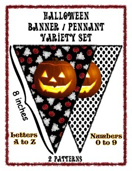 Halloween Banner Set ~ All Letters and Numbers ~ Happy Halloween