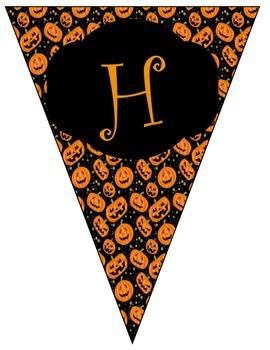 Halloween Banner with Pumpkin Background