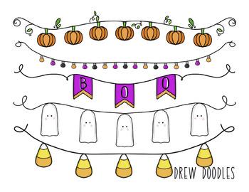 Halloween Banners Digital Clip Art Set