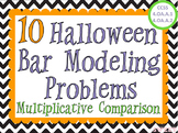 Halloween Bar Modeling Word Problems - Multiplicative Comparison
