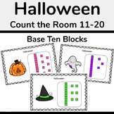 Halloween Base Ten Blocks Count and Write the Room 11-20
