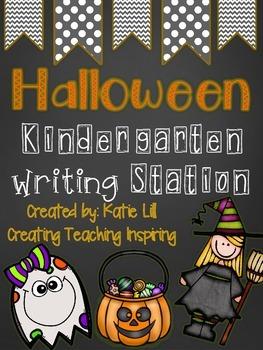 Halloween Bash  Kindergarten Writing *Freebie*