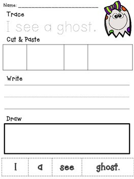 Halloween Bash  Kindergarten Writing *Freebie*