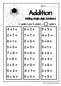 Halloween Basic Facts Activities- Multiplication, Subtraction, Addition