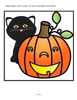 Halloween Basic Learning Centers for Preschool