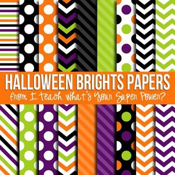 Halloween Basics Digital Paper Pack