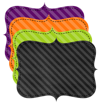 Halloween Basics Papers, Frames, and Banners Bundle