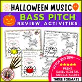 Halloween Bass Pitch Activities
