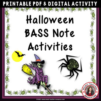 Halloween Bass Pitch Activities