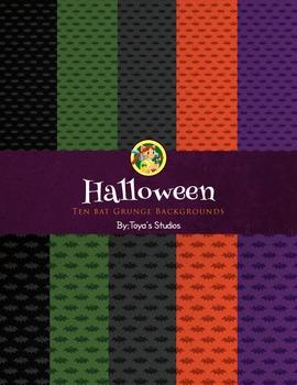 Halloween Bat Backgrounds by Toya's Studios