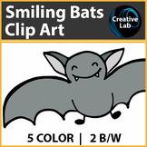 Creative Lab - Smiling Bats Clip Art - FREEBIE