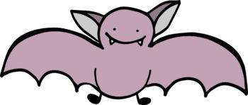 FREE - Smiling Bats Clip Art