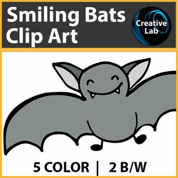 Smiling Bats Clip Art - Freebie!