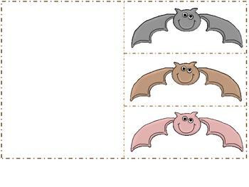 Halloween Bat Colors Flap Book