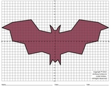 Halloween, Bat, Coordinate Graphing & Coordinate Drawing
