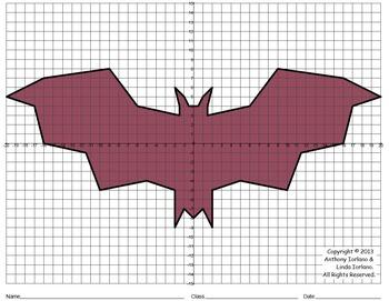 Halloween, Bat, Coordinate Graphing & Coordinate Drawing