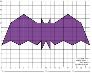 Halloween, Bat, Coordinate Graphing, Coordinate Drawing