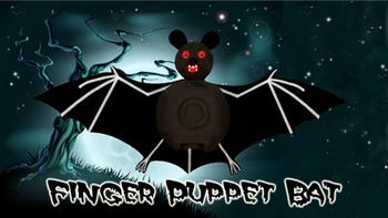 Halloween Bat Finger Puppet