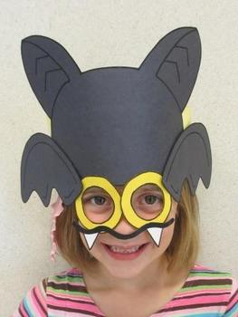 Halloween Bat Sentence Strip Hat Mask