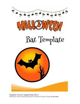 halloween bat template by titsania supersad teachers pay teachers