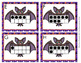 Halloween Bat Ten Frames Count the Room